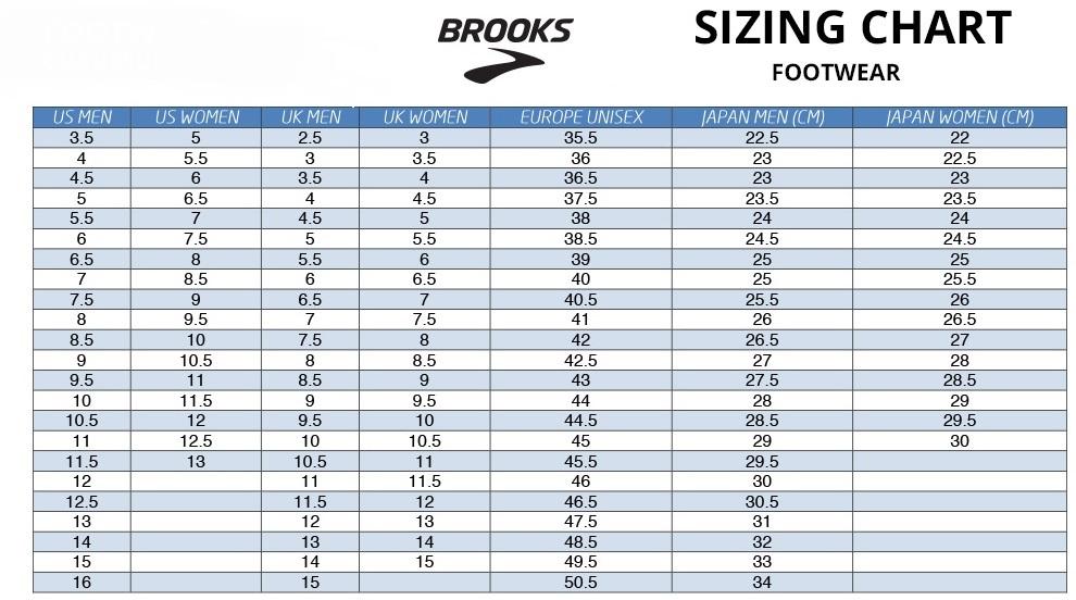 Purchase \u003e brooks shoe sizing, Up to 76